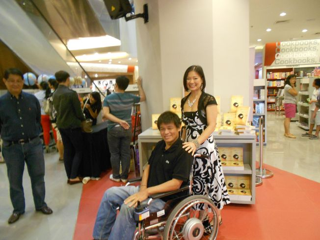 Nolet after the book signing.
