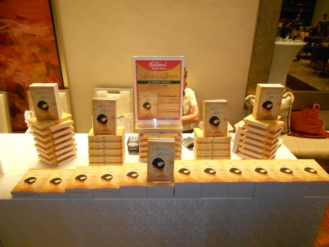 The Mango Bride display  at The Writers Bar.