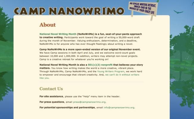 Nanowrimo lite