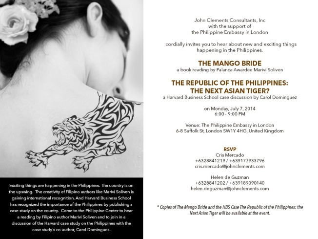 Join us for a night of provocative stories and conversations at the Embassy of the Philippines in London