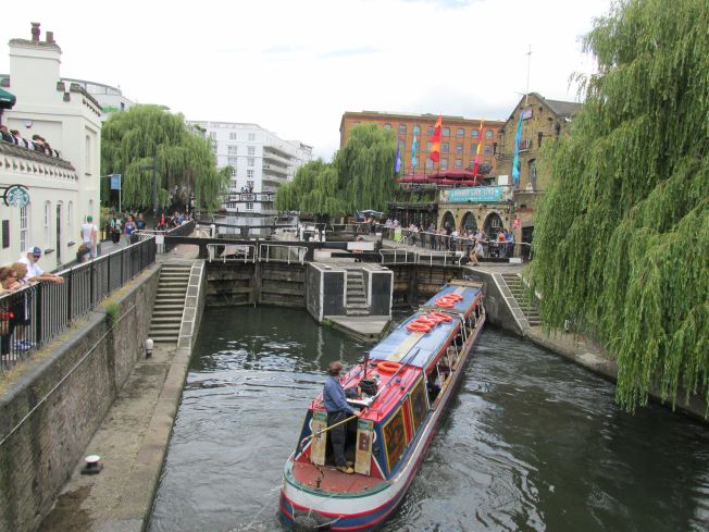 Camden Market must be among the most picturesque in Europe