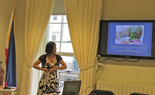 Talking about my Path to Publication at the Embassy