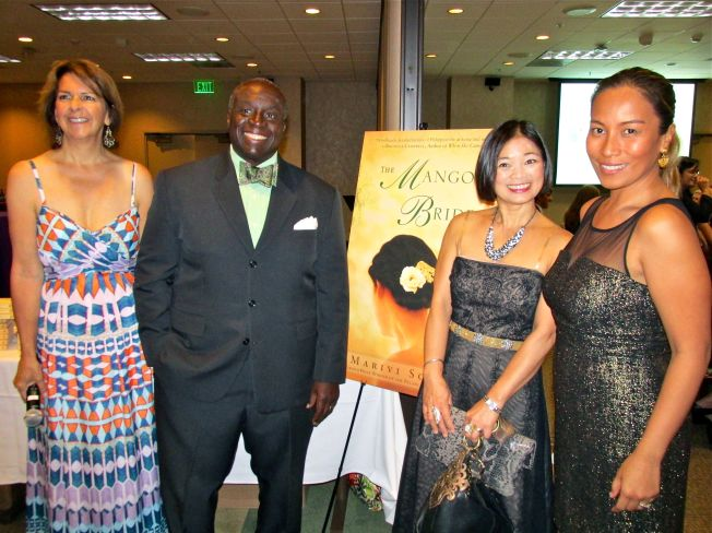 With the stars of the evening, Adventures by the book founder Susan McBeth, Ambassador Harry Thomas, Mithi Aquino Thomas
